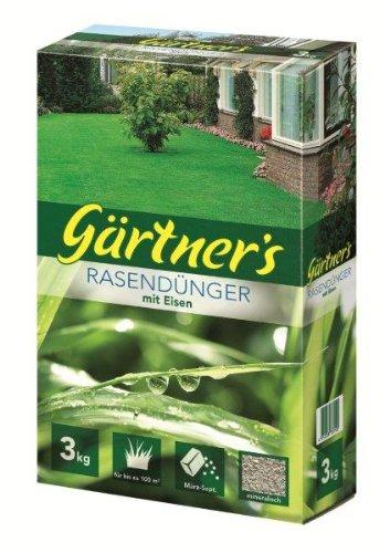 Gärtner's Rasendünger mit Eisen 3 kg