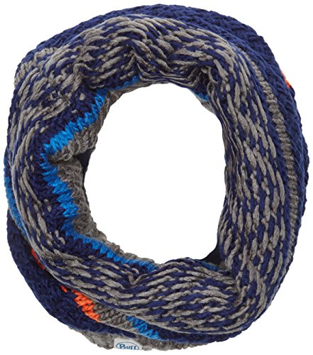 Buff Kinder Knitted & Polar Fleece Neckwarmer Schlauchschal, Tipsy Blue Ink, One Size (Polar-fleece-mütze Kinder)