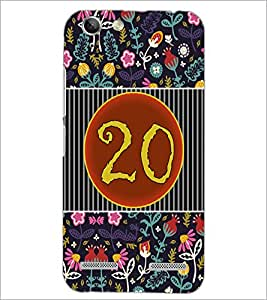 PrintDhaba Numerology Number 20 D-3108 Back Case Cover for LENOVO VIBE K5 PLUS (Multi-Coloured)