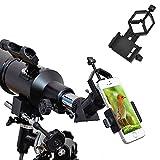 ipekoo adaptador de teléfono celular universal–Soporte Compatible con binocular monocular telescopio y microscopio–para iPhone, Sony, Samsung Moto, etc.–Grabar la naturaleza del mundo
