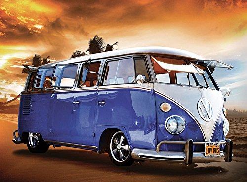 Volkswagen Van Sunset Foto-Tapete 4-teilig 232x315 cm