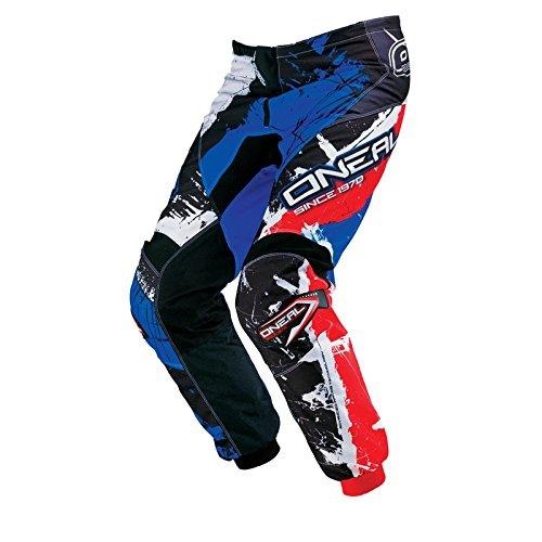 O'Neal Element Kinder MX Hose Shocker Schwarz Blau Motocross Enduro Offroad, 0124S-52, Größe 22/38 -