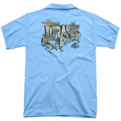 Jurassic Park Herren Poloshirt Carolina Blue