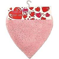 JVL–hecho a mano de los niños corazón Super suave alfombra, Rosa, 55x 55cm