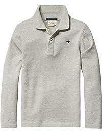 Scotch Shrunk Jungen T-Shirt Long Sleeve Garment Dyed Pique Polo