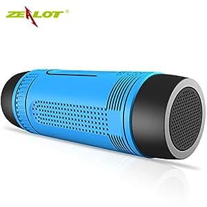 Haut-parleur Bluetooth sans fil panmari zélote pportable imperméable résistant aux chocs Carte d'équitation d'extérieur Alimentation Audio Téléphone portable, Vert