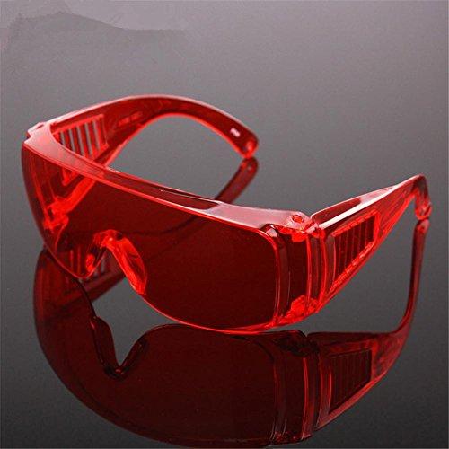 Profi geschweißte Gläser Anti - Gloss - Schweißer Gläser Laborgläser Anti - Wind Anti - Fog Skibrillen , red Schweißer Kamera