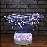 Wmbz Décor De Chambre À Coucher Romantique Luminaires 7 Couleurs Changeante Animale Veilleuses 3D Led Goldfish Modelage Bureau Lampe Cadeaux De Vacances