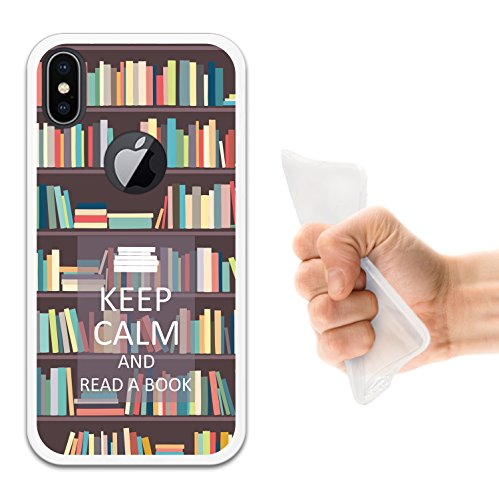 iPhone X Hülle, WoowCase Handyhülle Silikon für [ iPhone X ] Fußballfield Handytasche Handy Cover Case Schutzhülle Flexible TPU - Schwarz Housse Gel iPhone X Transparent D0292