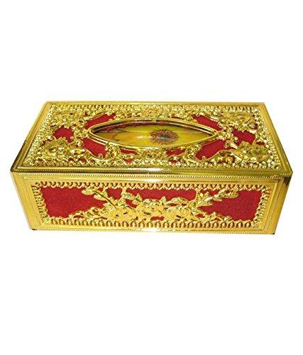 stylish designer carhomeoffice tissue box golden red Stylish Designer Carhomeoffice Tissue Box Golden Red 511tndRhRAL
