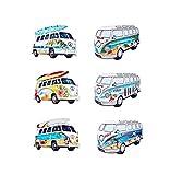G&S Surf Magnets Van Combi VW Lot de 6 Neufs décoration Porte FRIGO 8x5cm