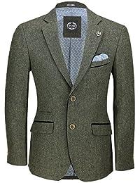 Amazon.es  Verde - Chaquetas de traje y americanas   Trajes y ... 6f9bf80bd9c