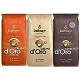 1x DALLMAYR Crema d' Oro + 1x DALLMAYR Crema d' Oro INTENSA + 1x DALLMAYR Espresso d' Oro (á 1000g / ganze Bohnen)