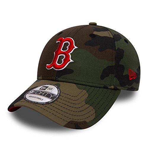 New Era Camo Team 9Forty Adjustable Boston RED SOX Camouflage, Size:ONE Size Sox Snap