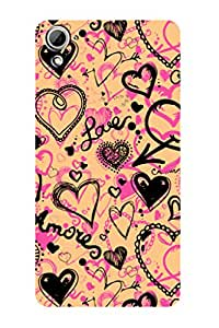 ZAPCASE PRINTED BACK COVER FOR HTC 826 - Multicolor
