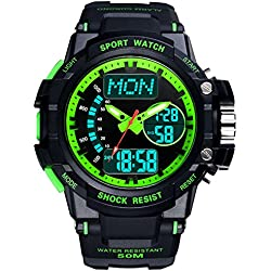 Multifunction Watches/Youth waterproof watch/With Luminescent sport watch-D