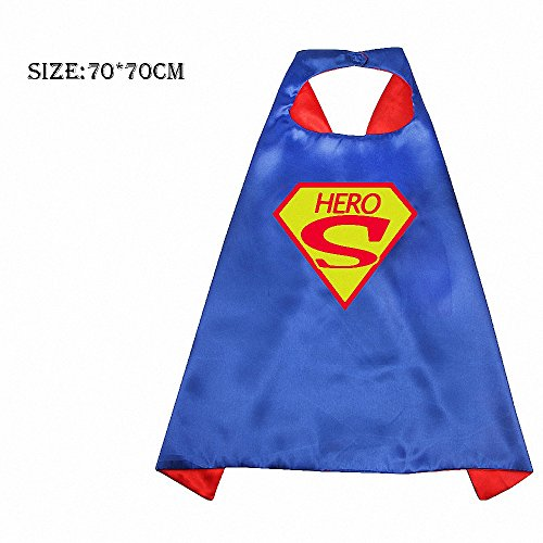 Kinder Umhang mit Super Hero Hammer Robin Muster Set für Jungen & Mädchen UP PARTY KLEID Kostüme