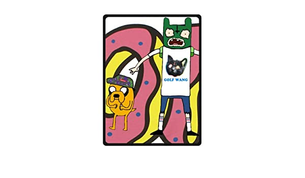04c0f90c9220 Custom Golf Wang Odd Future Time Fleece Throw Blanket 58 x 80 Inches  (Large) Nice Packaging  Amazon.co.uk  Kitchen   Home