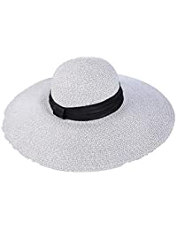 Zhangcaiyun Sombreros de Playa para Mujer Mujeres Floppy Protección Solar  Plegable Sombrero de Playa Grande ala ab6899ad653