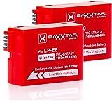 Baxxtar Pro Energy 2X - Ersatz für Akku Canon LP-E8 (1140mAh) mit Infochip - 100 Prozent kompatibel/Canon EOS 550D 600D 650D 700D