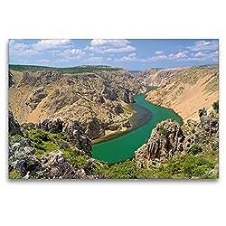 Premium Textil-Leinwand 120 x 80 cm Quer-Format Zrmanja Canyon | Wandbild, HD-Bild auf Keilrahmen, Fertigbild auf hochwertigem Vlies, Leinwanddruck von LianeM