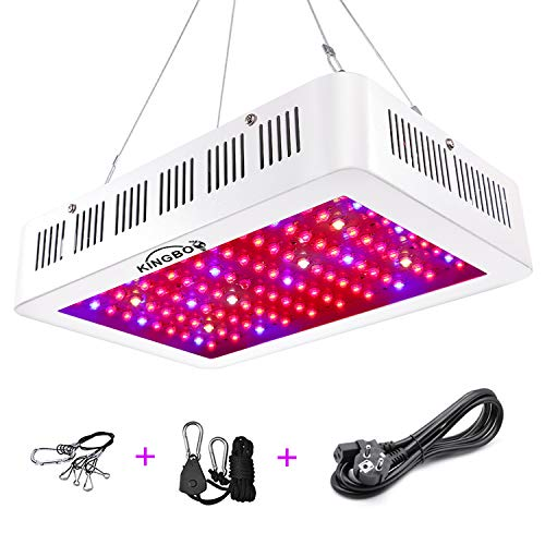 KINGBO 1000W Doppel Chips LED Grow Light Vollem Spektrum LED Pflanzenlampe mit Rope Hanger for Indoor Greenhouse Hydroponic Plants Veg and Flower