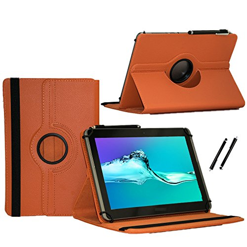 Case Cover für Medion Lifetab P8514 Tablet Schutzhülle Etui mit Touch Pen & Standfunktion - 360° Orange 8 Zoll