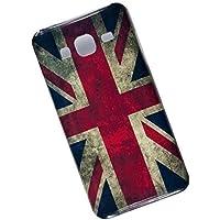 Slim Case for Samsung Galaxy J3 (2016) J320. Tasche Cover. UK Flag.
