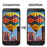 [2 Stück] OMOTON Panzerglas Displayschutzfolie für Google / LG Nexus 5X , Anti-Kratzen, Anti-Öl, Anti-Bläschen,9H Härte - 5