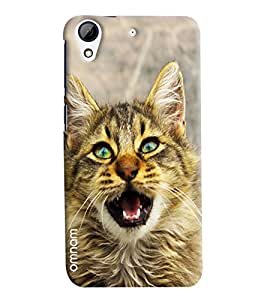 Omnam Cat Screaming Printed Designer Back Cover Case For HTC Desire 728