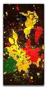 The Racoon Grip printed designer hard back mobile phone case cover for Nokia Lumia 730. (Rasta Spla)