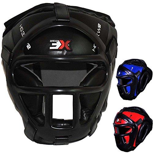 3x-sports-head-guard-mma-headguard-ufc-thai-kick-boxing-training-protective-gear-black-l