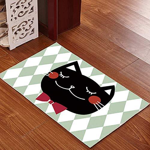 Tiwosan Cartoonmuster-Türmattenhaus-Türmatten-Küchenmatten des Haushalts Nette-J_40 * 60 cm