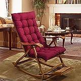 Coussin rectangulaire inclinable, pliable, antidérapant, épaississement, automne et hiver, tapis de dossier, fauteuil à bascule, conception de courroie de coussin, n'inclut pas le fauteuil à bascule