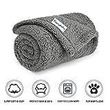 furrybaby Premium Flauschige Fleece Hundedecke,Weiche und Warme Hündchen Decke für Hund und Katze (S 60 * 75cm, Grau)