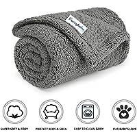 furrybaby Premium Flauschige Fleece Hundedecke,Weiche und Warme Hündchen Decke für Hund und Katze (S 60*75cm, Grau)