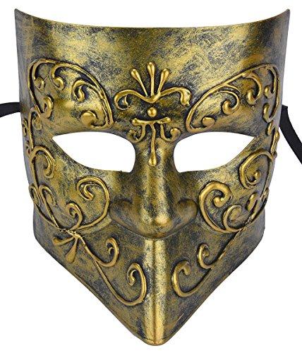 Kapmore Mens Maskerade Maske Griechische Römische Party Karneval Halloweenmaske (one size, Antique (Römischen Weibliche Kostüme)