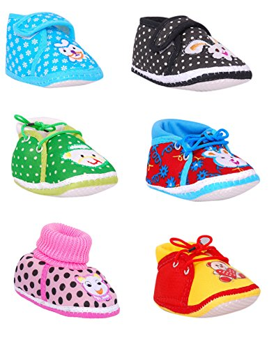 Brats N Angels Multicolour Baby Shoes – Pack of 6