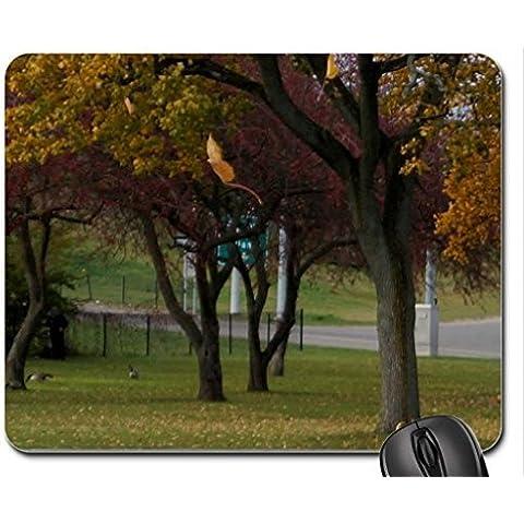Falling Autumn Leaves Mouse Pad, Mousepad (Forces of Nature Mouse Pad) - Autumn Falling Leaves