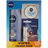 Nivea Smooth Body Milk Lotion, 200ml With Lip Care And Color, Ruby Red, 25ml And Soft Cream, 4.8g