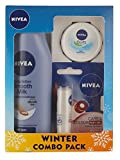 #1: Nivea Smooth Body Milk Lotion, 200ml with Lip Care and Color, Ruby Red, 4.8g and Soft Cream, 25ml