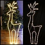 LED Rentier 150 cm groß Neon-Lichtschlauch 720 LED warmweiß für Weihnachten aussen