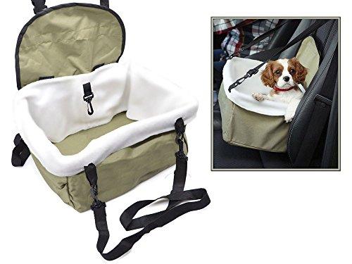 Vetrineinrete Trasportino per cani e gatti da auto borsa da sedile seggiolino portatile con cinghia di sicurezza per animali fino a 9 kg C10