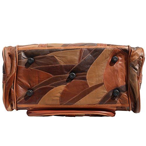 CTM Unisex Reisetasche mit Innenschulterriemen aus Leder - 46x29x23 Cm Leder