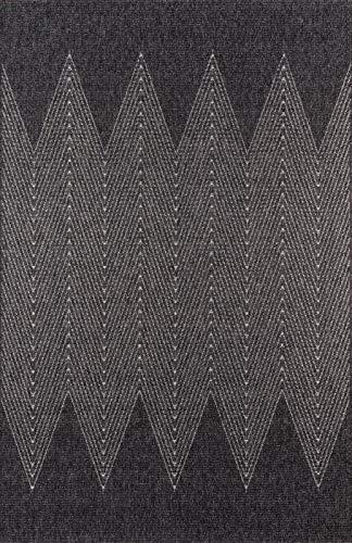Momeni COMO0COM-5CHR2060 Teppich Como Collection, 60 x 183 cm, Anthrazit