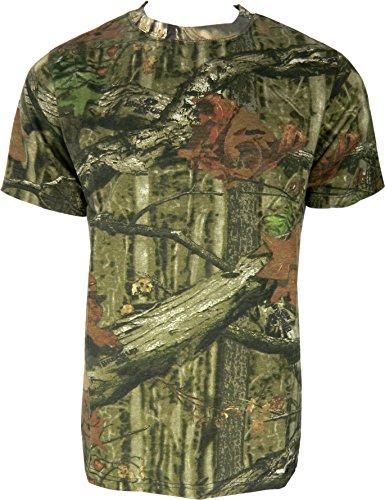 Herren Dschungel Druck Tarnung Kurzarm T-Shirt Camo Jagd Normal und Plus Size Top (2XL, Dschungel Druck)