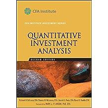Quantitative Investment Analysis (The CFA Institute Series)