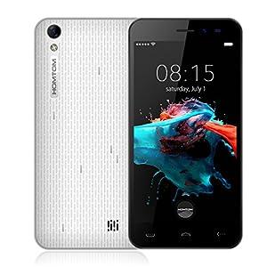Smartphone HOMTOM HT16 3G, 5.0 Pouces 1Go+8Go Android 6.0 Quad Core 1.3GHz, Double SIM, GPS WIFI, Blanc MT6580