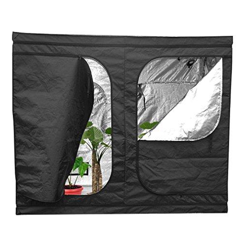 Homgrace Growzelt Growbox Growschrank Zuchtzelte Grow Box Zelt für Zimmerpflanzen Gartenarbeit Innen- Hydroponik Gewächshaus (240 x 120 x 200cm) (Box Die Grow)