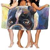 Toallas de baño KSIY Boston Terrier, extra grandes, suaves, lavables...